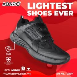 Black School Shoes ABARO 2807 Mesh + Ultra Light EVA Primary/Secondary Unisex