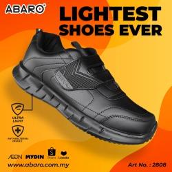 Black School Shoes ABARO 2808 PVC + Ultra Light EVA Primary/Secondary Unisex