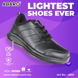 Black School Shoes ABARO 2893 Ultra Light EVA Secondary Unisex