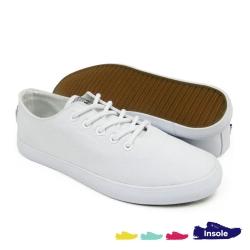 White Canvas Secondary School Shoes Ladies 6255