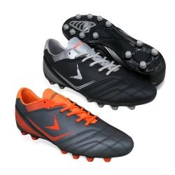 Black Football Shoes PU Leather FA610A4