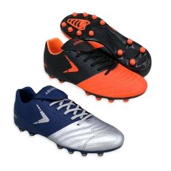 Black Football Shoes PU Leather FA610A5
