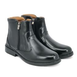 Black PVC Leather Uniform Cadet Formal Shoes Men FBA731E6
