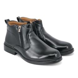 Black PVC Leather Uniform Cadet Formal Shoes Men FBA731E8