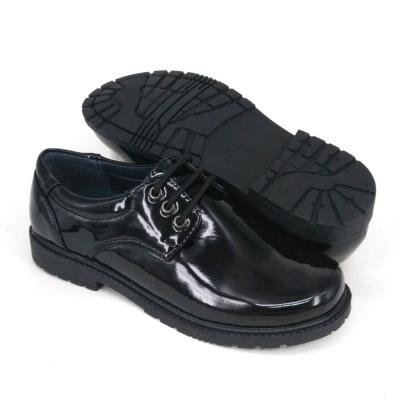 Black PU Leather International School Shoes Hostel / Boarding / Uniform / Formal Shoes Unisex FPA529F2