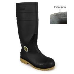 Black Calf Rain Boots Korakoh M707 (BK)