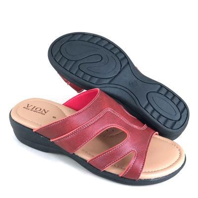 Women Slippers Red SLL62AE4