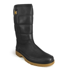 Mid-Calf Rain Boots TS-38 Black | Maroon DR MALDINI