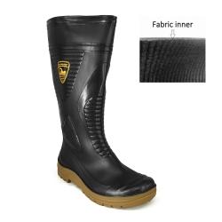 Calf Rain Boots TS-48 Black | Maroon DR MALDINI