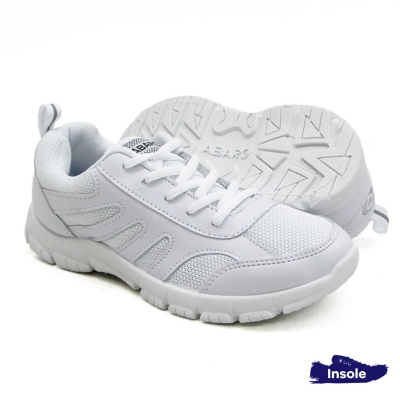 White School Shoes Secondary Mesh + PVC Unisex 2233