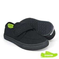 Black School Shoes ABARO 2625 Canvas Pre-School/Primary Girls