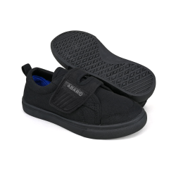 Black School Shoes ABARO 2627 Canvas Pre-School/Primary Unisex