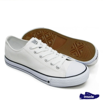 White School Shoes Secondary Canvas Unisex 7281