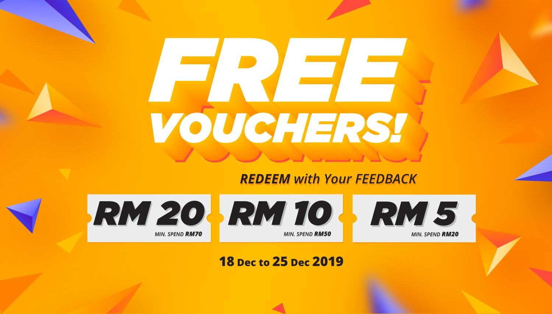 Free Voucher RM20 2019