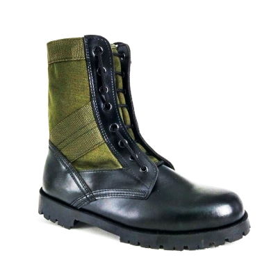 Green Army Uniform Boots Cadet Formal Shoes Men FBD713A1