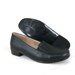 Black PVC Leather Hostel / Uniform / Formal Shoes Ladies FMA627D1
