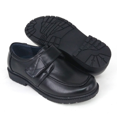 Black PVC Leather International School Shoes Hostel / Boarding / Uniform / Formal Shoes Unisex FMA529F4