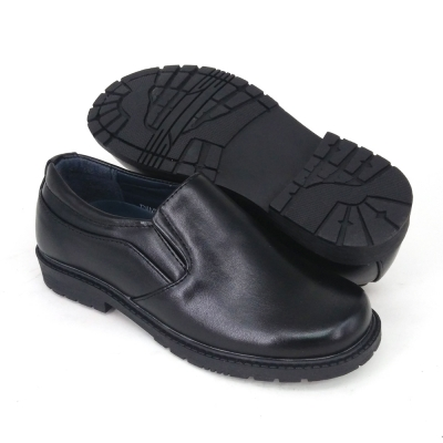 Black PVC Leather International School Shoes Hostel / Boarding / Uniform / Formal Shoes Unisex FMA529F5