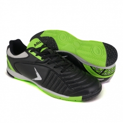 Black Futsal Shoes PU Leather FUA610A1