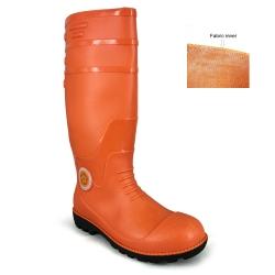Orange Calf Rain Boots Korakoh M707 (OR)