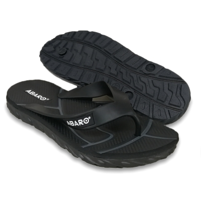 Flat Slipper Men Black/Grey FFA711B2