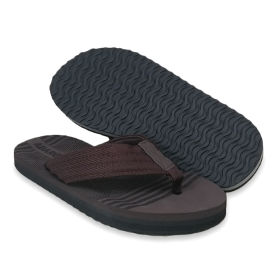 Flat Slipper Men Brown/Dark Blue FFA711D2