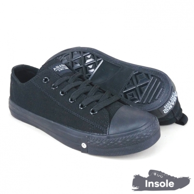 Black School Shoes ABARO 7286 Canvas Secondary Unisex