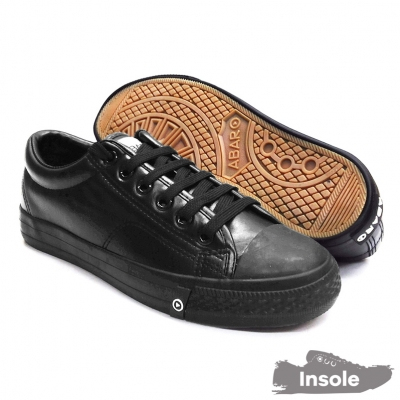 Black School Shoes ABARO 7369 PU Leather Secondary Unisex