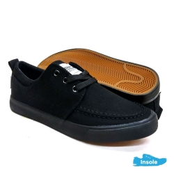 Black School Shoes ABARO 7228 Canvas Secondary Unisex