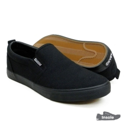 Black School Shoes ABARO 7295 Canvas Secondary Unisex