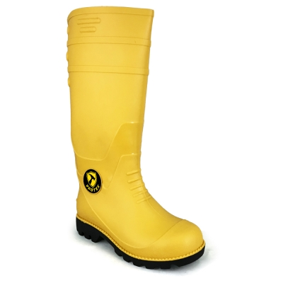 Calf Rain Boots Protek With Fabric Inner PT77 Yellow