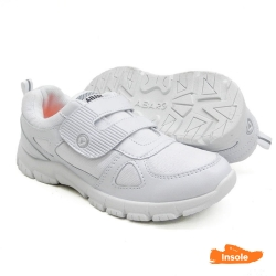 White School Shoes Canvas + PVC Primary/Secondary Unisex 2235
