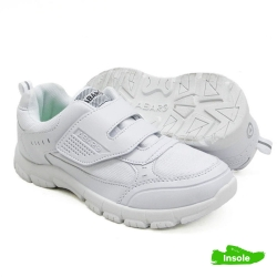 White School Shoes Canvas + PVC Primary/Secondary Unisex 2236