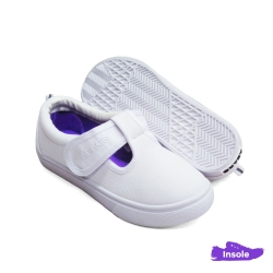 White School Shoes Canvas Pre-School/Primary Girls 2513