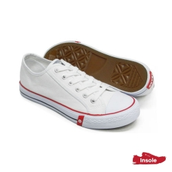 White School Shoes Secondary Canvas Unisex 7292