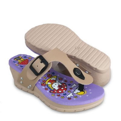 Kids Slippers Wedges Beige SLL41F2