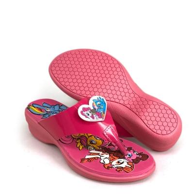 Kids Slippers Low Heel Pink SLL41J4