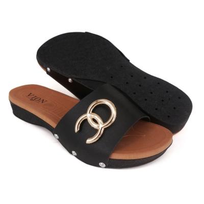 Women Slippers Black SLL61D5