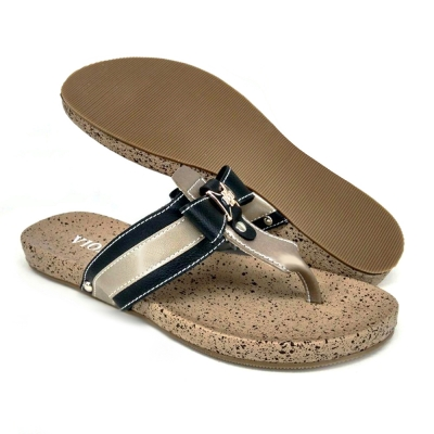 Flat Slipper Ladies Black SLL64Y1