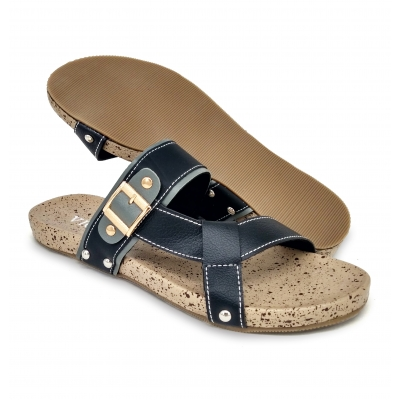Flat Slipper Ladies Black SLL64Y3