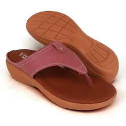 Semi-Wedges Flat Slipper Ladies Pink SLL61AD4