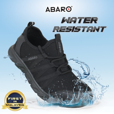 Black School Shoes ABARO W2821 Waterproof Mesh + EVA Secondary Unisex