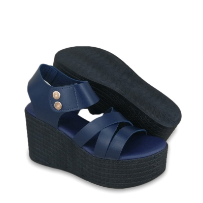 Women Wedges Navy Blue WDL620R1