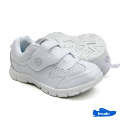 White School Shoes ABARO Mesh + PVC Primary/Secondary Unisex 2231